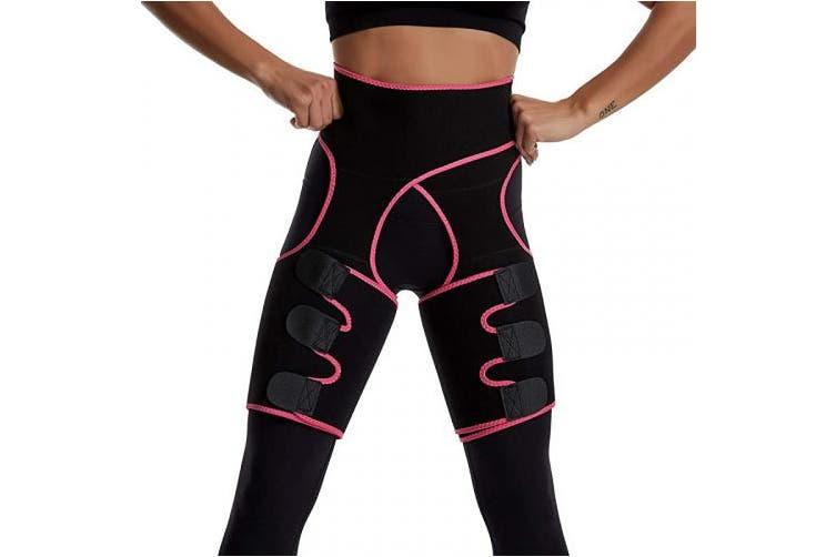 X Large L Xl Pink Vva Waist Trainer Women 3 In 1 Waist And Thigh Trimmer Butt Lifter Shaper For Workout Training Fitness Shapewear Body Shaper Belt Kogan Com