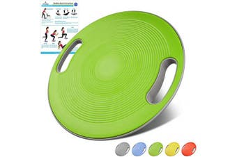 (Green) - arteesol Balance Board, Therapy Spinning top Physiotherapy Wobble Board Balance Board, Suitable for Training Balance, Coordination and Strength, Physiotherapy and Rehabilitation