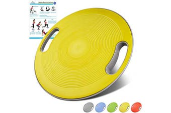 (Yellow) - arteesol Balance Board, Therapy Spinning top Physiotherapy Wobble Board Balance Board, Suitable for Training Balance, Coordination and Strength, Physiotherapy and Rehabilitation