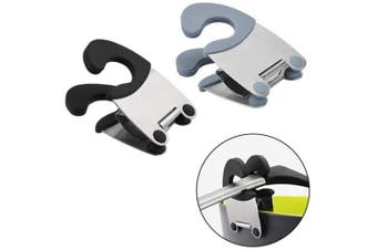 Pot Clip/Stainless steel pot holder,for Spoon Rest Silicone and Stainless Steel Anti-Scald Grip Easy Pot Fixed Clamp Kitchen Accessories Tools (black & Grey)