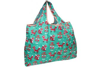 (Foxes) - allydrew Large Foldable Tote Nylon Reusable Grocery Bag, Foxes