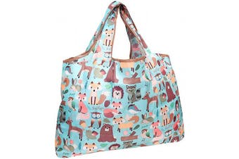 (Wilderness Animals) - allydrew Large Foldable Tote Nylon Reusable Grocery Bag, Wilderness Animals