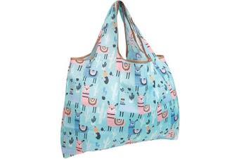 (Llamas) - allydrew Large Foldable Tote Nylon Reusable Grocery Bag, Llamas