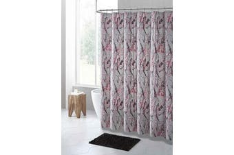 (Gray Pink and Gold Marble Design) - PEVA Shower Curtain Liner Odourless, PVC and Chlorine Free, Biodegradable, Mildew Free, Eco-Friendly Size 72L (Grey Pink and Gold Marble Design)