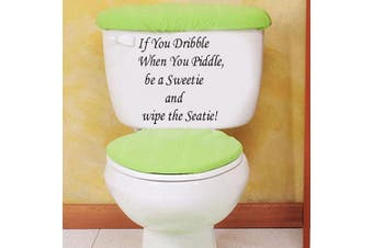 (If You Dribble) - BIBITIME Toilet Stickers Funny If You Dribble When You Piddle Be a Sweetie and Wipe The Seatie ! Lavatory Cover Decor