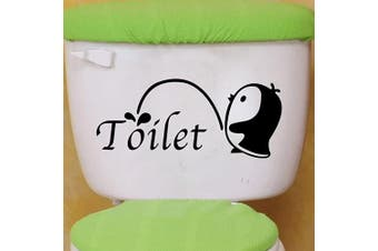 (Penguin) - BIBITIME Cute Baby Penguin Toilet Stickers for Bathroom Flush Toilet Cover Water Tanks Decal Outdoor Latrine Civilization Tips Vinyl Decor