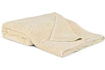 (Oversized Bath Sheet - 100cm  x 200cm , Beige) - 100% Luxury Turkish Cotton, Eco-Friendly, Soft and Super Absorbent Oversized 40'' x 80'' Bath Sheet (Beige, 1 Piece)