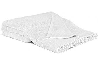 (Oversized Bath Sheet - 100cm  x 200cm , White) - 100% Luxury Turkish Cotton, Eco-Friendly, Soft and Super Absorbent Oversized 40'' x 80'' Bath Sheet (White, 1 Piece)