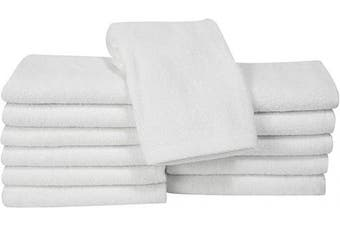 (13x13, White) - Classic Turkish Cotton Bath Towel Set - Thick and Soft Terry Cloth Hotel and Spa Quality Bath Towels Made with 100% Turkish Cotton (White, 13x13)