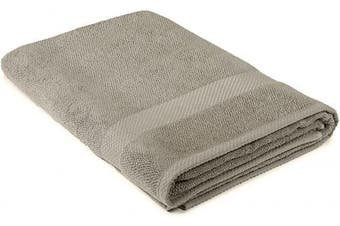 (90cm  x 180cm , Taupe) - Maura Premium Bath Sheets 100% Cotton 35x70 Oversized Ultra Absorbent Quick Dry Soft Towel Set for Bathroom Extra Large Bath Towels, Taupe