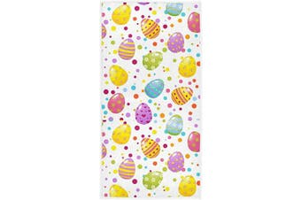 (Easter Eggs) - Pfrewn Colourful Easter Eggs Hand Towels 41cm x 80cm Spring Heart Floral Egg Dot Bathroom Towel Ultra Soft Highly Absorbent Small Bath Towel Kitchen Dish Guest Towel Happy Easter Day Decorations