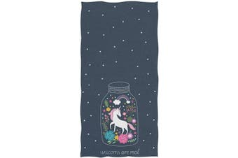(Unicorn) - Naanle Beautiful Cartoon Unicorn are Real Stars Print Soft Absorbent Guest Hand Towels for Bathroom, Hotel, Gym and Spa (16 x 30 Inche)