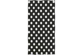 (Polka Dots) - Naanle Cute Polka Dot Pattern Soft Absorbent Guest Hand Towels for Bathroom, Hotel, Gym and Spa (41cm x 80cm ,Black White)