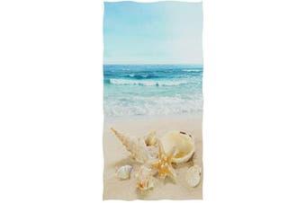 (Beach Starfish) - Naanle 3D Beautiful Sandy Beach Starfish Shells Print Soft Guest Hand Towels Multipurpose for Bathroom, Hotel, Gym and Kitchen (41cm x 80cm )