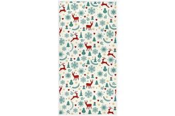 (Christmas Deer Snowflake) - AGONA Christmas Holiday Deer Snowflake Hand Towel Ultra Soft Absorbent Fingertip Towels Large Decorative Bath Towels Multipurpose for Bathroom Kitchen Gym Yoga Spa 80cm x 38cm