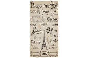 (Paris Eiffel Tower) - AGONA Vintage Chic Paris Eiffel Tower Hand Towels Absorbent Soft Face Towels Large Decorative Bath Towels Multipurpose for Bathroom Kitchen Gym Yoga 80cm x 38cm