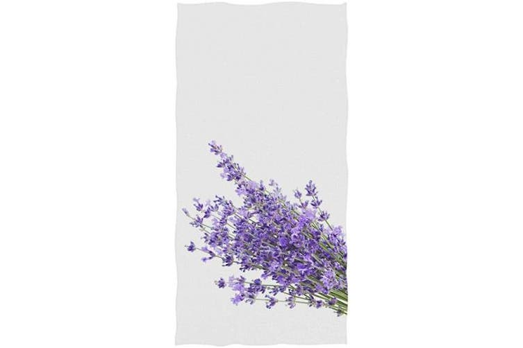 (Lavender) - Vdsrup Beautiful Lavender Flowers Hand Towels 80cm X 38cm Purple Poppy Bath Bathroom Towel Multipurpose Fingertip Towels Highly Absorbent for Hand Face Gym Spa