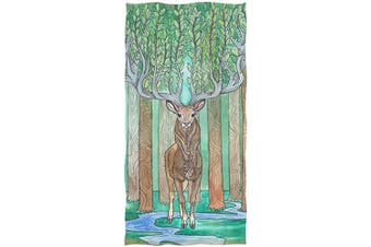 (Deer) - Naanle Fresh Watercolour Deer with Magic Antlers Soft Highly Absorbent Large Decorative Hand Towels Multipurpose for Bathroom, Hotel, Gym and Spa (41cm x 80cm ,Floral)