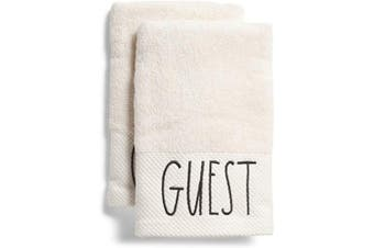 (Guest) - Rae Dunn by Magenta Hand Towels - Set of 2 (Guest)