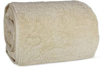 (Bath Sheet (100cm  x 200cm ) - Set of 1, Beige) - Indulge Linen 100% Turkish Cotton Towel Set (Beige, Bath Sheet (100cm x 200cm ) - Set of 1)