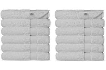 (Washcloths, White) - Chakir Turkish Linens Luxury Ultra Soft Bamboo 12-Piece Washcloths - Soft, Absorbent and Eco-Friendly (White)