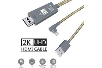 (black) - PINYUAN Compatible with iPhone iPad to HDMI Adapter Cable, 1080P Digital AV HDMI Adaptor Connector Cord for iPhone Xs Max XR X 8 7 8 Plus iPad Pro - No Delay, No Stuttering