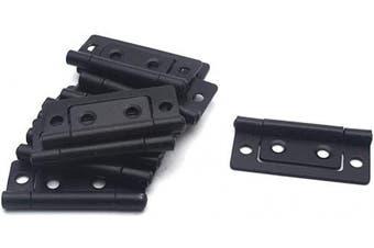 "(Flat Black 2"" x 1"") - Antrader 5.1cm Non-Mortise Antique Hinge, Vintage Furniture Cabinet Reproduction Restoration Hardware with Screws, Flat Black, Pack of 12"
