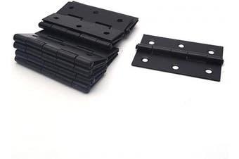 (Black) - Antrader Cabinet Gate Closet Door Hinge 5.1cm - 1cm Long Home Furniture Hardware Folding Butt Hinge Black Pack of 12