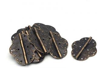 "(2.72"" x 2.09"") - Antrader 6.9cm x 5.3cm Retro Bronze Engraved Design Cabinet Closet Jewellery Box Hinge Home Furniture Hardware Decorative Folding Hinge Pack of 12"