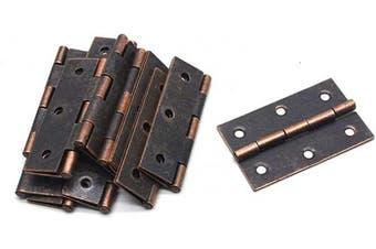 (Copper Tone) - Antrader 12 PCS Folding Butt Hinge, Cabinet Gate Closet Door Hinge 5.1cm - 1cm Long Home Furniture Hardware with 72pcs Screws