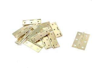 (Gold Tone) - Antrader Cabinet Gate Closet Door Hinge 5.1cm - 1cm Long Home Furniture Hardware Folding Butt Hinge, Gold Tone, Pack of 12