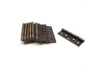 (Bronze Tone) - Antrader Non-Mortise Door Hinges 12pcs Cabinet Gate Closet Door Hinge Home Furniture Hardware with Mounting Screws Bronze Tone