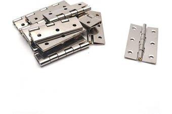 (Silver Tone) - Antrader Folding Butt Hinge 5.1cm Long Cabinet Gate Closet Door Hinge Home Furniture Hardware Silver Tone 12pcs