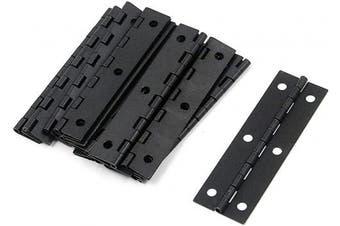 "(Black 2.9"" x 0.9"") - Antrader 7.4cm x 2.3cm Long Folding Butt Hinges, Cabinet Gate Closet Door Hinge, Home Furniture Hardware with Mounting Screws, Black, Pack of 12"