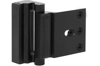 (Black) - Door Reinforcement Lock Child Safety Door Security Lock with 4 Screws for Inward Swinging Door-Add Extra,High Security to Your Home|Prevent Unauthorised Entry-7.6cm Stop,Aluminium Construction