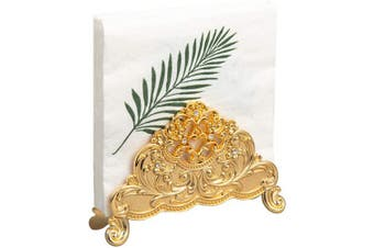 (Gold) - Feyarl Napkin Paper Tissues Holder Table Top Decorative Napkin Holder Stand(Gold)