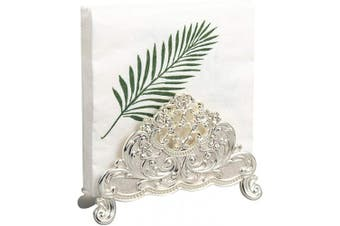 (Silver) - Feyarl Napkin Paper Tissues Holder Table Top Decorative Napkin Holder Stand(Silver)