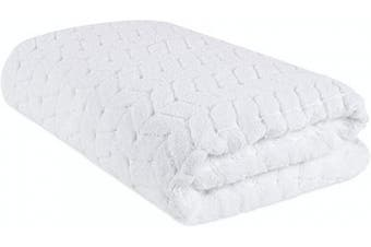 (Bath Sheet, White) - Bagno Milano Jacquard Woven%100 Turkish Cotton Quick Dry Towels, Non-GMO Turkish Cotton Plush Luxury Towels, Thick and Soft Durable Spa Towel Set, White Bath Sheet