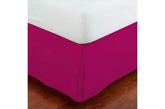 (Twin, Hot Pink) - Linen Plus Twin Size Luxury Tailored Bed Skirt 36cm Drop Pleated Styling Dust Ruffled Solid Hot Pink New