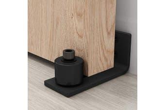 (FLoor Guide 01) - FREDBECK Barn Door Floor Guide,Sliding Wall Mount Powder Coated Adjustable Delicate Barn Door Bottom Guide, Black, Super Smoothly and Quietly, Easy to Instal,Flush to Floor