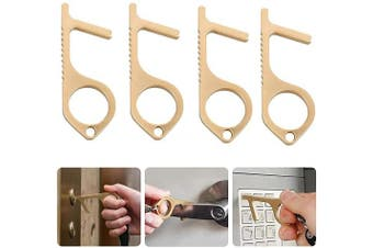 (A) - Door Opener Tool, 4pcs No Touch and Contactless Door Opener Hands Tool For Easy to Carry, for Public Door, Elevator, Touch Screen Button, Keep Hands Clean (A)