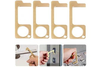 (B) - Door Opener Tool, 4pcs No Touch and Contactless Door Opener Hands Tool For Easy to Carry, for Public Door, Elevator, Touch Screen Button, Keep Hands Clean (Large Size)