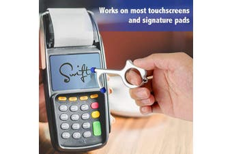 Screen Touch No Touch Door Opener & Closer Stick for Push The Elevator Button, Healthy Portable Contactless Stylus Keychain Clean Key Keep Hands Clean