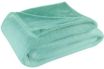 (Throw, Turquoise) - Cosy House Collection Throw Size Fleece Blanket – All Season, Lightweight & Plush Hypoallergenic - Microfiber Blankets for Bed, Couch or Travel - Turquoise