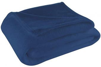 (Throw, Navy) - Cosy House Collection Throw Size Fleece Blanket – All Season, Lightweight & Plush Hypoallergenic - Microfiber Blankets for Bed, Couch or Travel - Navy