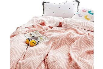 (F/Q 200cm  X 230cm , Check2 Red) - MEJU Red Cheques Muslin Lightweight Summer Blanket for Bed Sofa Couch, 100% Combed Cotton 3 Layer Soft Warm Quick Dry Throw Blanket Bed Coverlet Sheet (Check2 Red, F/Q 200cm X 230cm )