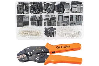 (JST SM Pins & SN-28B Crimping Tools) - QLOUNI 2.54mm Pitch JST SM Pins & SN-28B Crimping Tools Dupont 620Pcs 1 2 3 4 5 6 Pin Housing Connector Male Female Crimp Pins Adaptor Assortment Kit