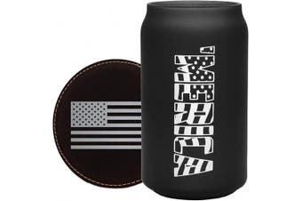 (470ml can, Can - Merica) - BadBananas Patriotic American Gifts for Veterans - 470ml Beer Can Glass - 'Merica - Military Gifts for Men or Women, Police Officer Gifts