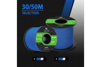 (Dark Blue, 50 Metres) - Abma Cord 2mm Paracord 1 Inner Strand 100% Nylon Parachute Cord - 45kg Breaking Strength