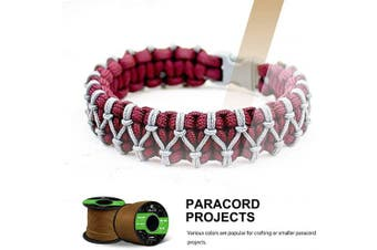 (Neon Yellow, 50 Metres) - Abma Cord 2mm Paracord 1 Inner Strand 100% Nylon Parachute Cord - 45kg Breaking Strength